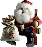 incense smoker, edge stool Santa Claus, medium