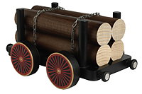 trailer with wood for edge stool railway