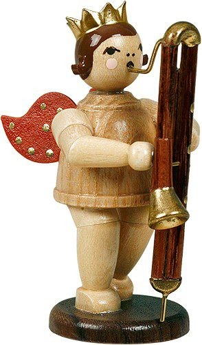 angel with contrabassoon - with crown, natural