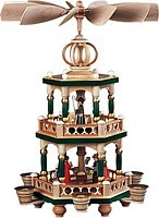 2-storeyed coloured pyramid, Bible story