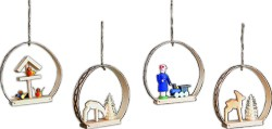 tree ornament, 4-part set