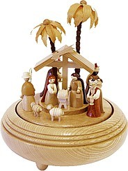musical box Nativity natural, 18 polyphonic plaything
