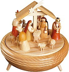 musical box Nativity, 18 polyphonic plaything silent night