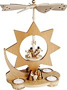 tea light pyramid star, Nativity