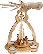 Bell pyramid for tea lights, Nativity