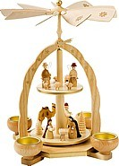 Tealightpyramid 2 storey Nativity