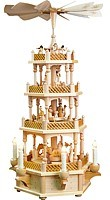 3-storeyed Christmas pyramid, Nativity