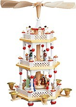 2-storeyed Christmas pyramid, Nativity -white