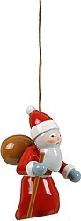 Christmas tree ornament, Santa, 3 parts