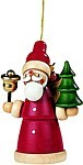tree ornament, Santa Claus, coloured