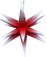 Annaberger folding star, red/white
