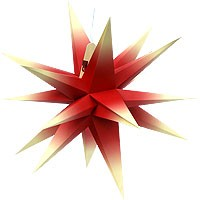 Annaberger folding star, red/yellow
