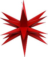 Annaberger folding star, red