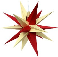 Annaberger folding star, red and yellow peaks