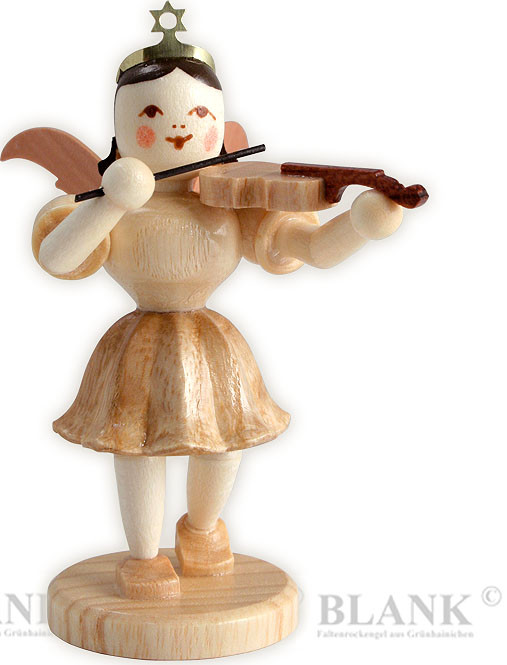 angel with short pleated skirt and violin