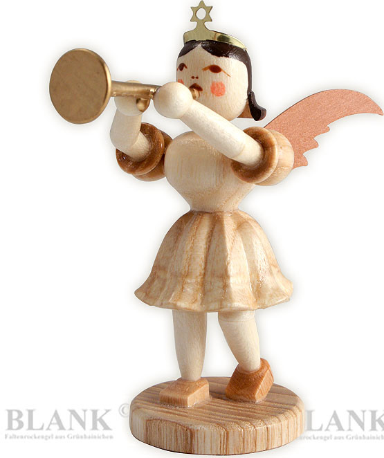 angel with short pleated skirt and trombone