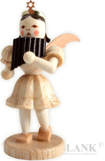 angel with short pleated skirt and panpipes
