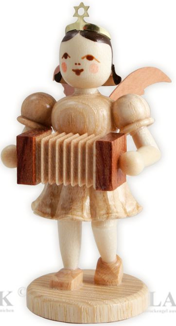 angel with short pleated skirt and concertina