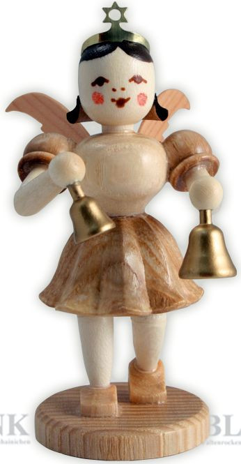 angel with short pleated skirt and bells