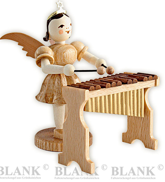 angel with short pleated skirt and xylophone
