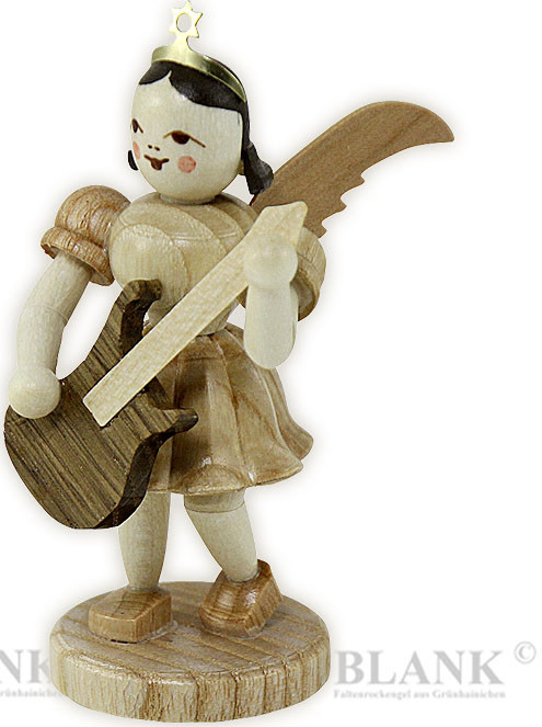 angel with short pleated skirt and electric guitar