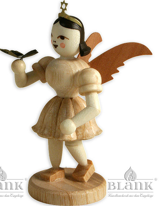 angel with short pleated skirt and butterfly