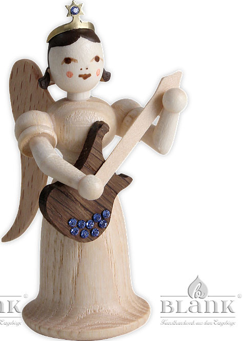 angel with long pleated robe and electric guitar & Swarovski elements