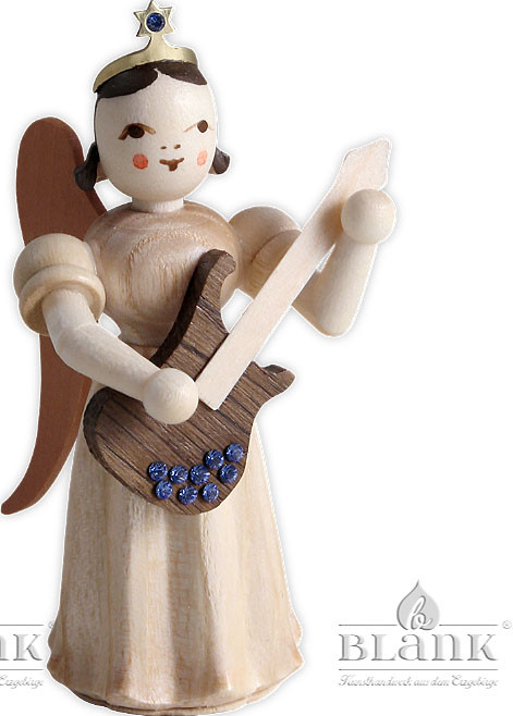 angels with long pleated skirts and electric guitar & Swarovski elements