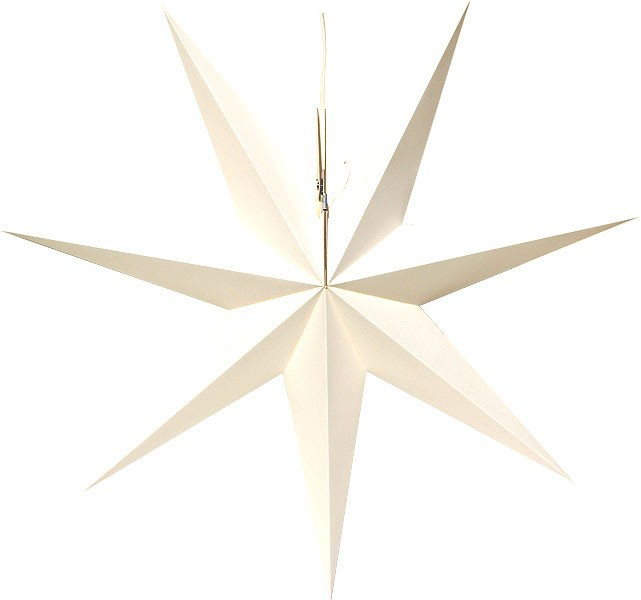 Erzgebirge window star, white