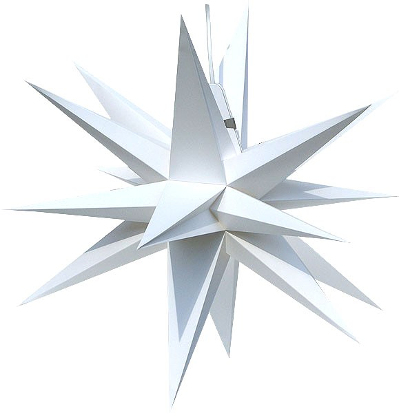 Annaberg folding star, white