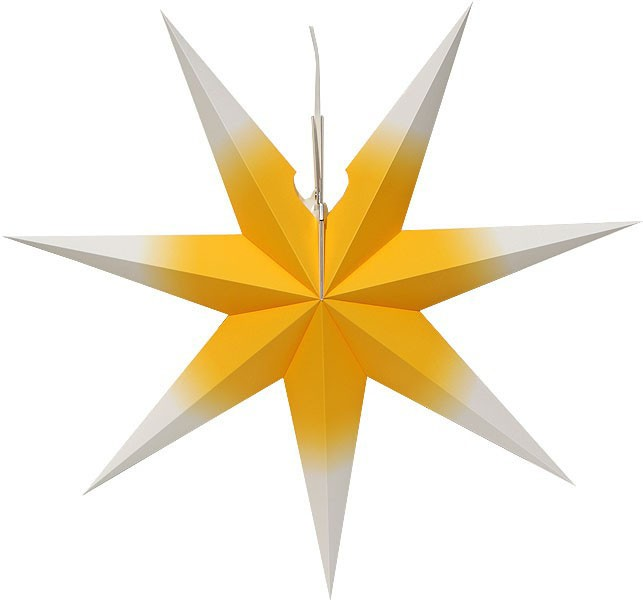 Erzgebirge window star, yellow/white