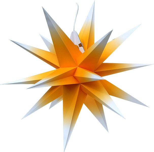 Annaberg folding star, yellow/white