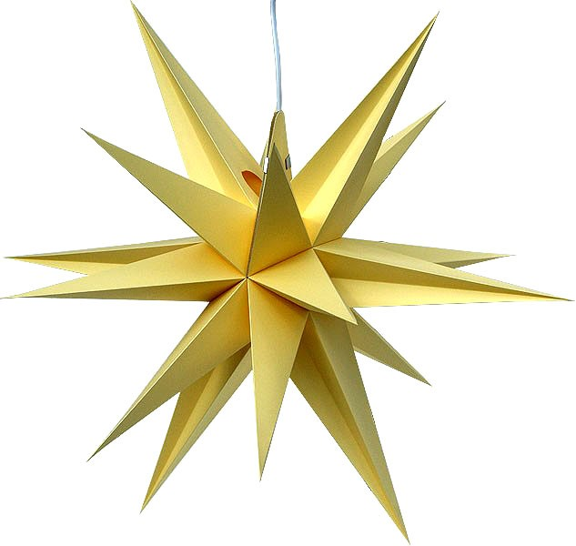 Annaberg folding star, yellow