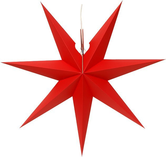 Erzgebirge window star, red
