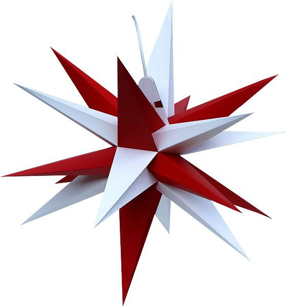 Annaberg folding star, red and white points