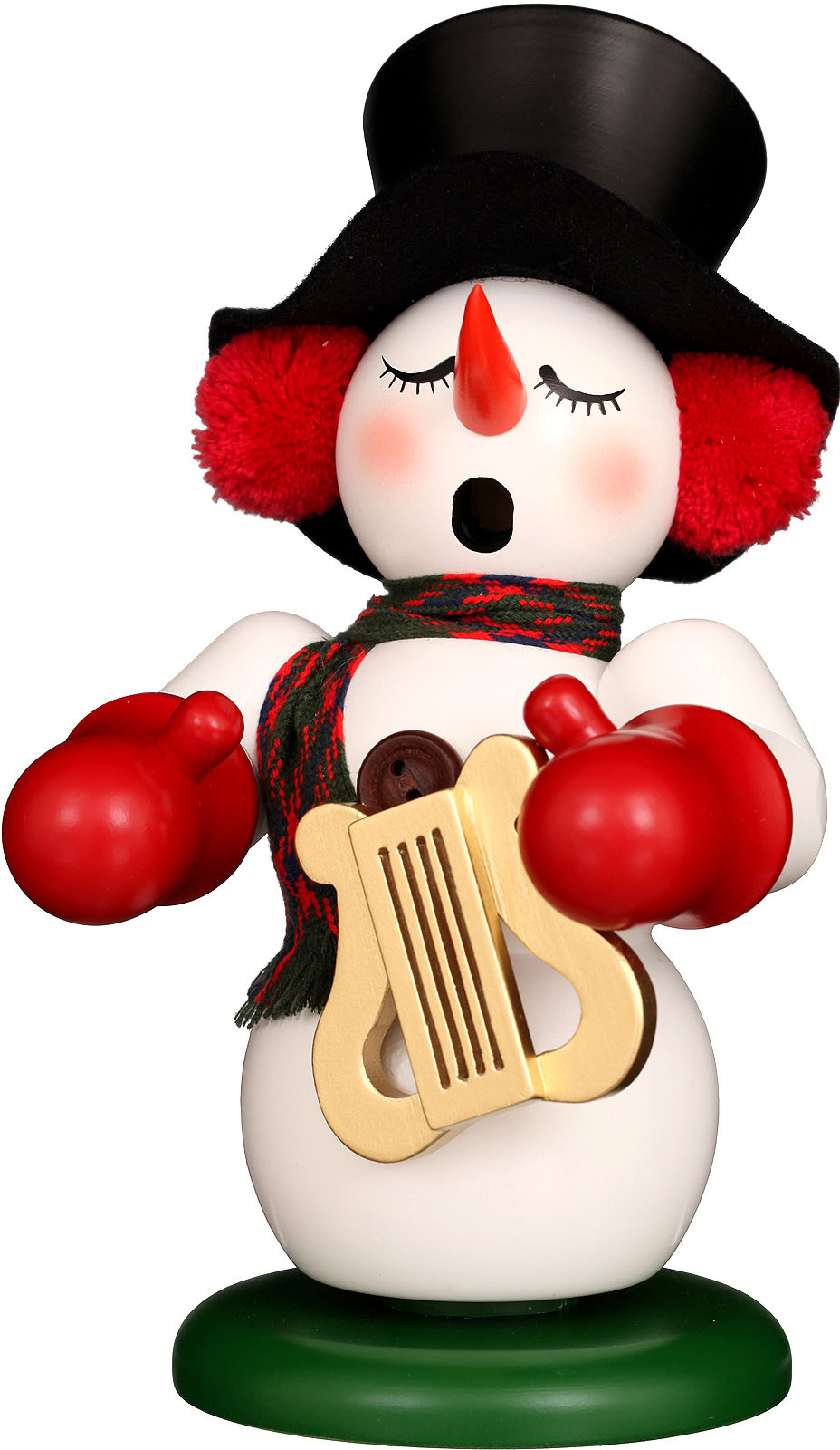 incense smoker, snowman with lyre - limited