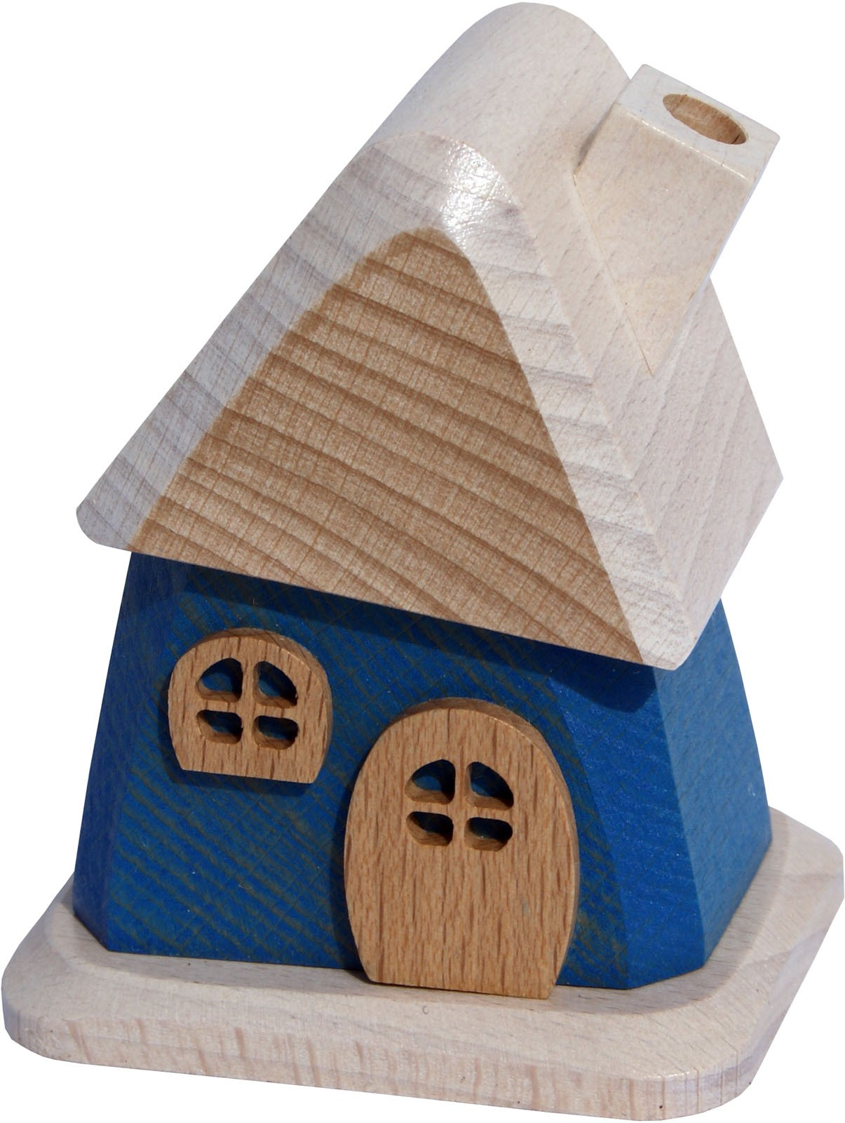 wooden smoking house, blue
