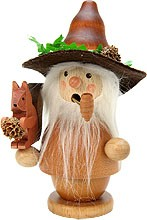 incense smoker, forestman with squirrel, natural