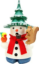 incense smoker, snowman with tree