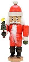 nutcracker Santa Claus glazed