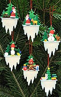 tree ornaments icicle set