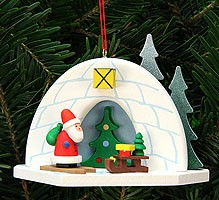 tree ornament igloo with Niko