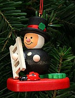 tree ornament chimney sweep on heart