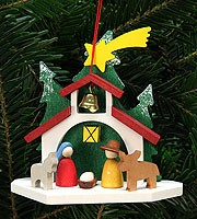 tree ornament chapel with Holy Family