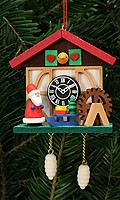 tree ornament cuckoo clock, Niko on the waterwheel