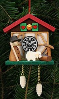 tree ornament cuckoo clock, shepherd