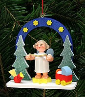tree ornament starry sky with angel