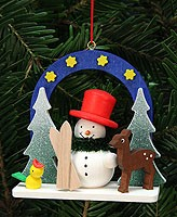 tree ornament starry sky with snowman