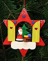 tree ornament star window with Niko