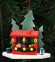 tree ornament booth of Striezelmarket